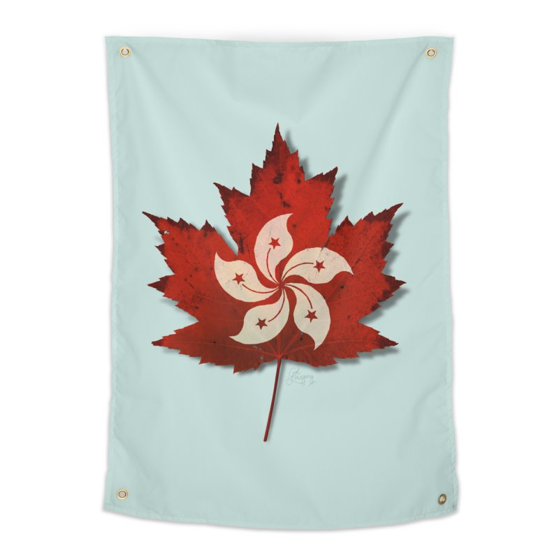 Hong Kong Maple Home Tapestry by Hadeda Creative's Artist Shop