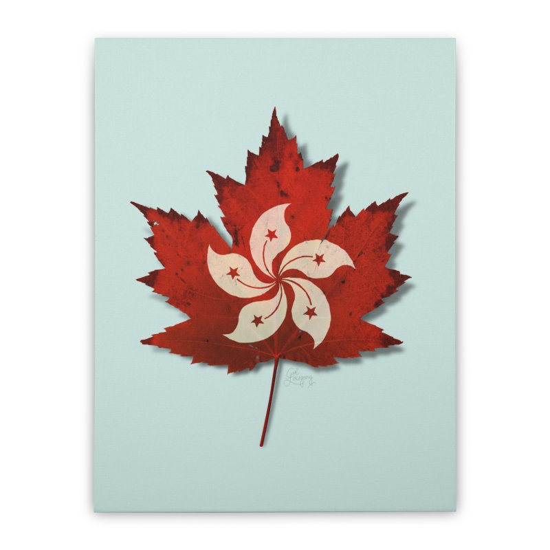 Hong Kong Maple Home Stretched Canvas by Hadeda Creative's Artist Shop