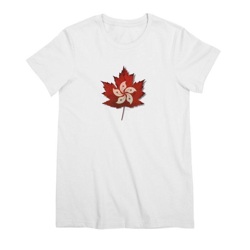 Hong Kong Maple Women's Premium T-Shirt by Hadeda Creative's Artist Shop