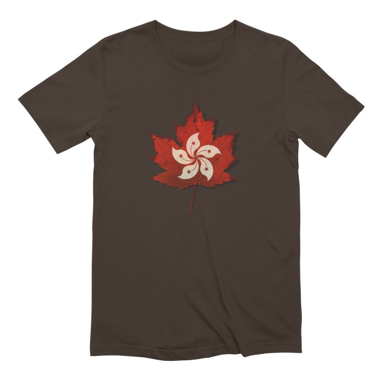 Hong Kong Maple Men's Extra Soft T-Shirt by Hadeda Creative's Artist Shop