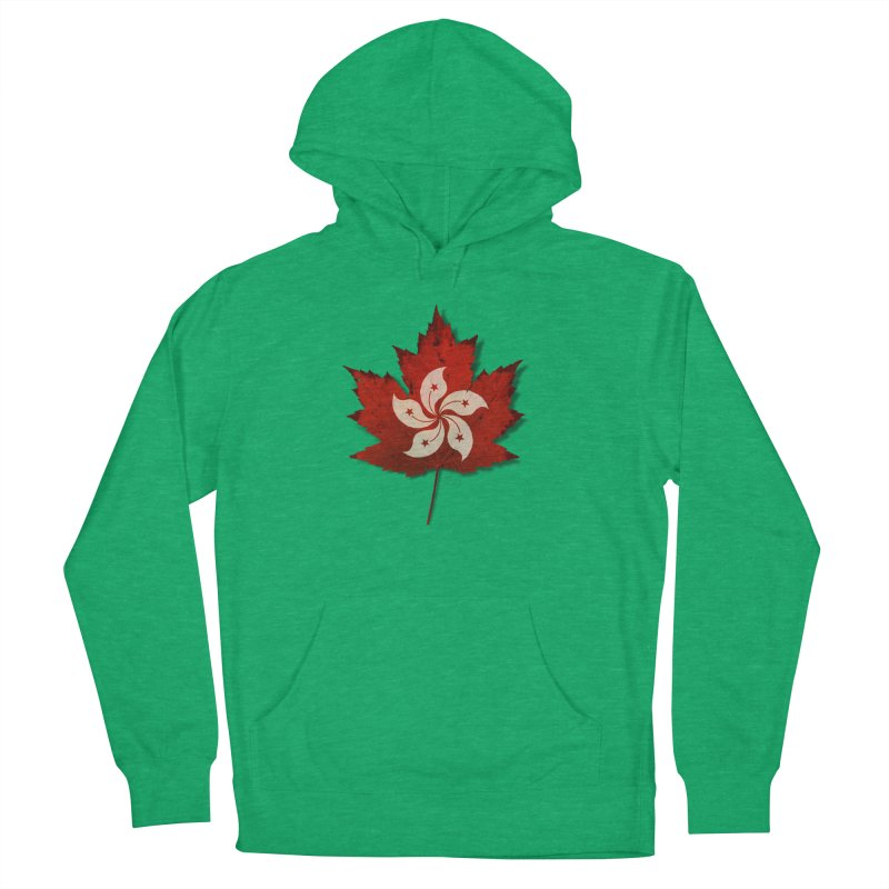 Hong Kong Maple Men's French Terry Pullover Hoody by Hadeda Creative's Artist Shop