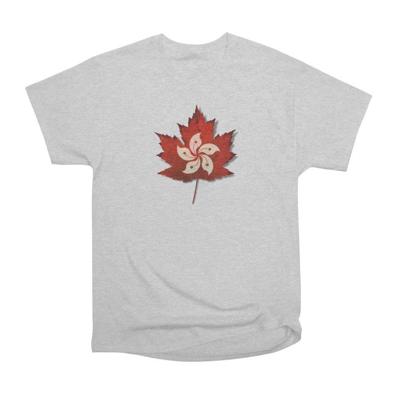 Hong Kong Maple Men's Heavyweight T-Shirt by Hadeda Creative's Artist Shop