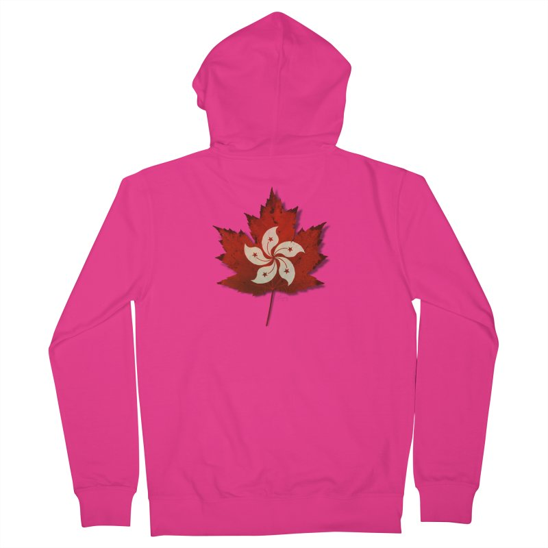 Hong Kong Maple Men's French Terry Zip-Up Hoody by Hadeda Creative's Artist Shop