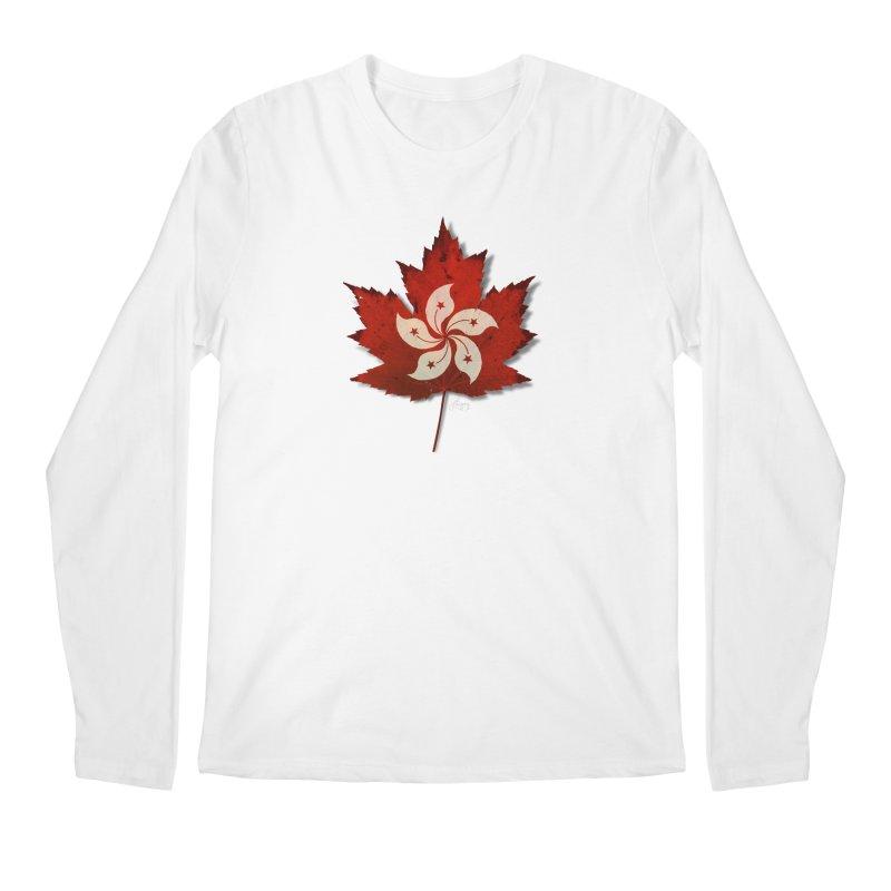 Hong Kong Maple Men's Regular Longsleeve T-Shirt by Hadeda Creative's Artist Shop