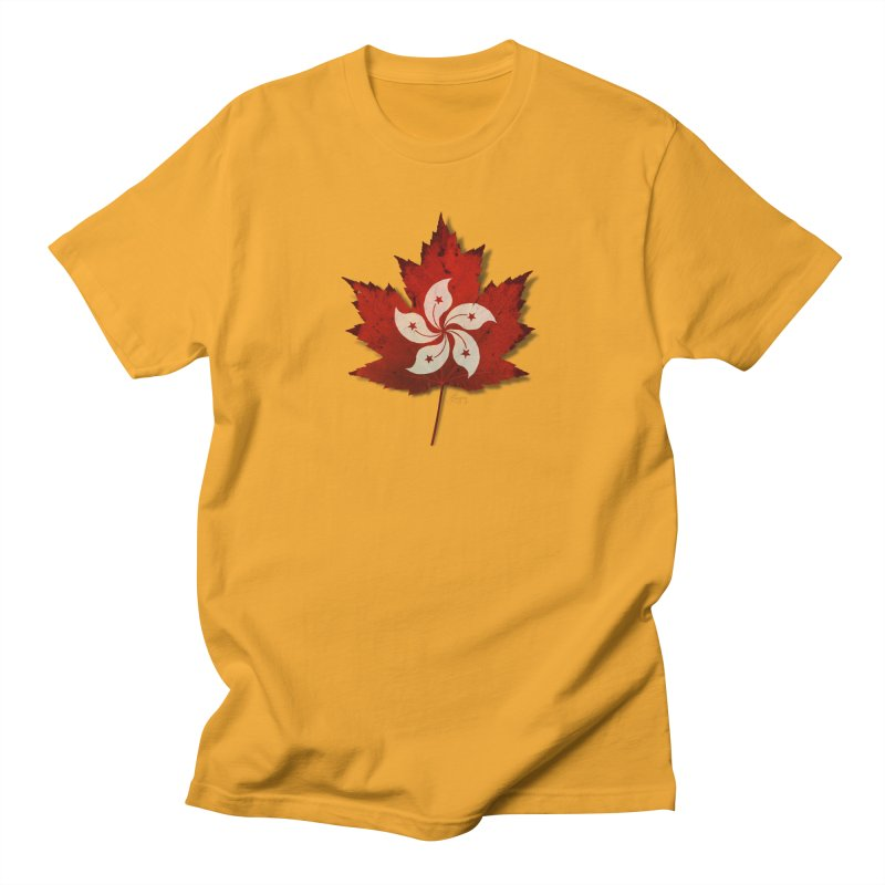 Hong Kong Maple Men's Regular T-Shirt by Hadeda Creative's Artist Shop