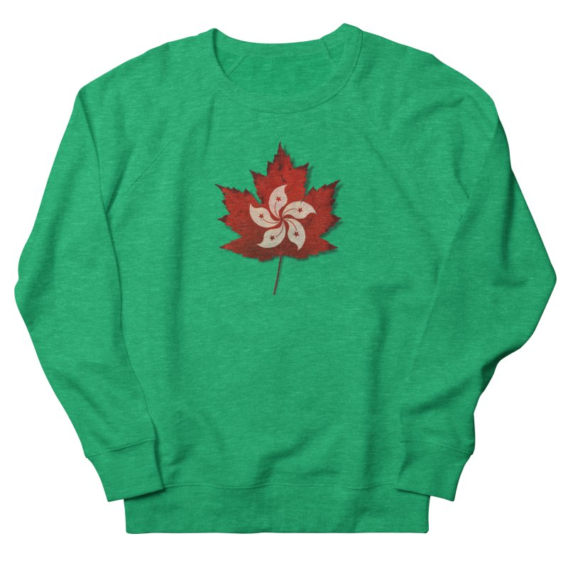 Hong Kong Maple Women's French Terry Sweatshirt by Hadeda Creative's Artist Shop