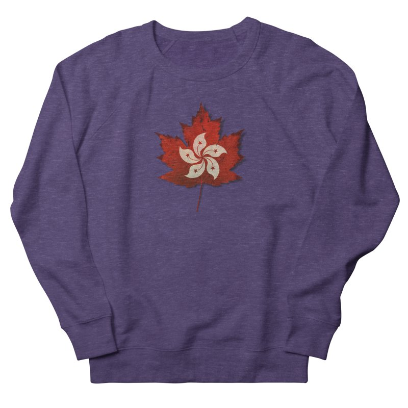 Hong Kong Maple Men's French Terry Sweatshirt by Hadeda Creative's Artist Shop