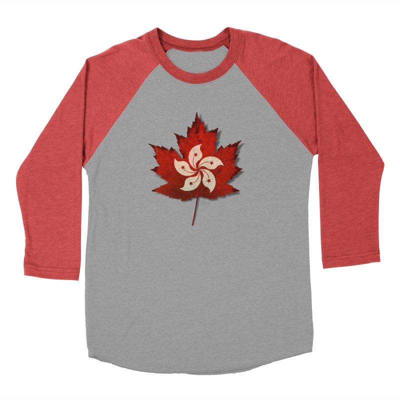 Hong Kong Maple Men's Baseball Triblend Longsleeve T-Shirt by Hadeda Creative's Artist Shop