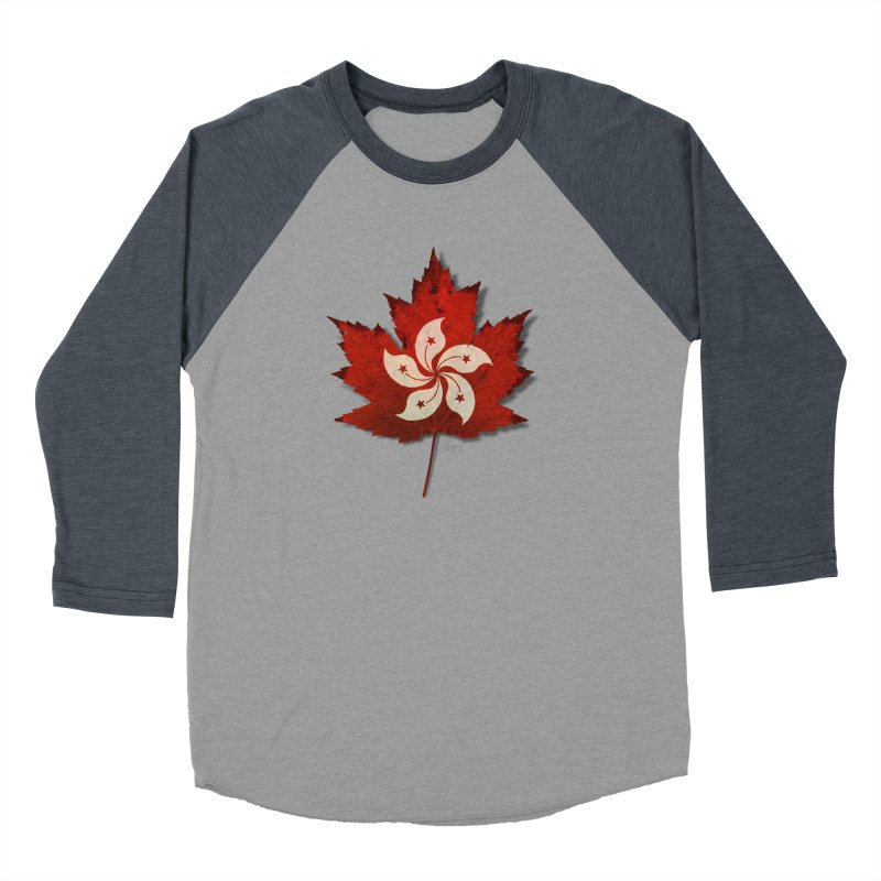 Hong Kong Maple Men's Baseball Triblend Longsleeve T-Shirt by Hadeda Creative's Artist Shop