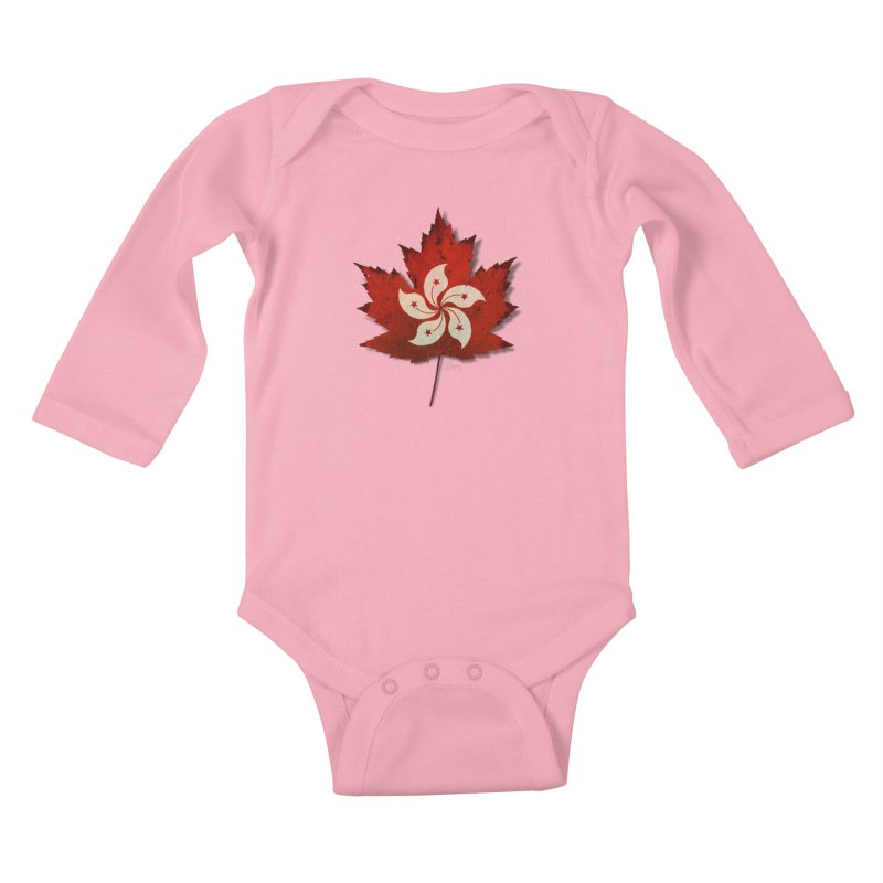 Hong Kong Maple Kids Baby Longsleeve Bodysuit by Hadeda Creative's Artist Shop