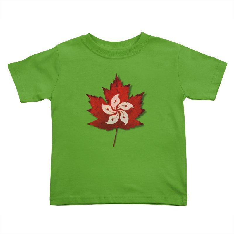 Hong Kong Maple Kids Toddler T-Shirt by Hadeda Creative's Artist Shop