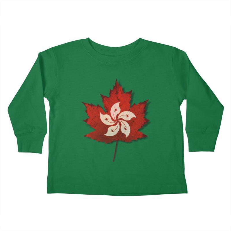 Hong Kong Maple Kids Toddler Longsleeve T-Shirt by Hadeda Creative's Artist Shop