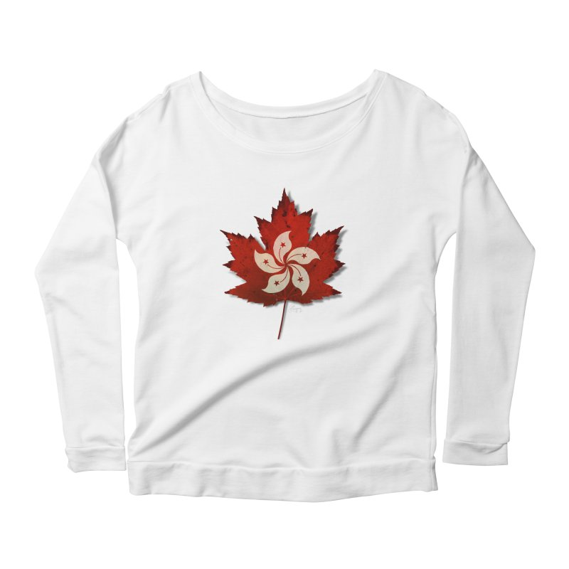 Hong Kong Maple Women's Scoop Neck Longsleeve T-Shirt by Hadeda Creative's Artist Shop
