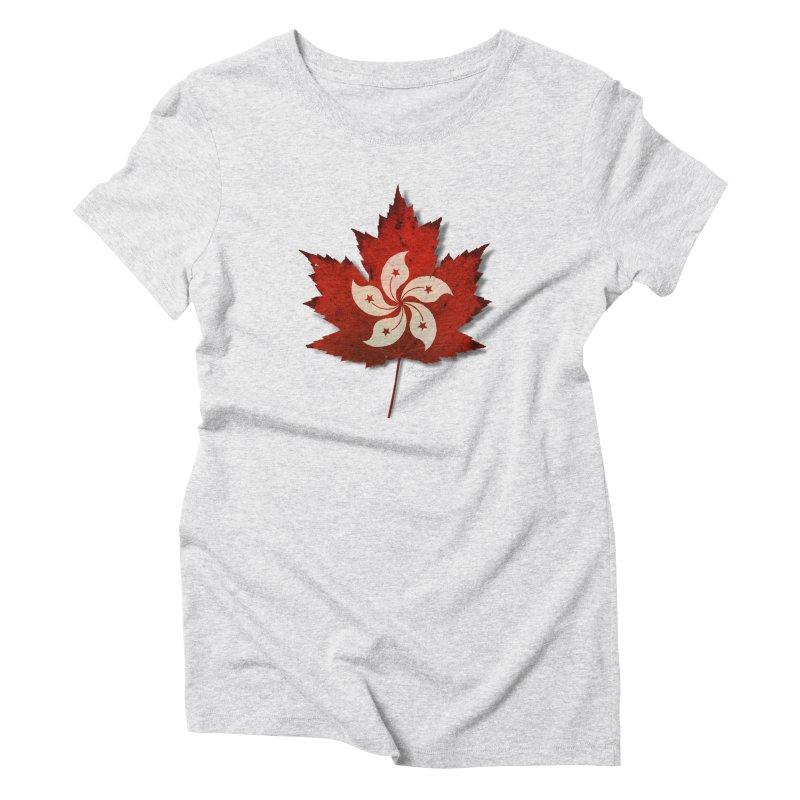 Hong Kong Maple Women's Triblend T-Shirt by Hadeda Creative's Artist Shop