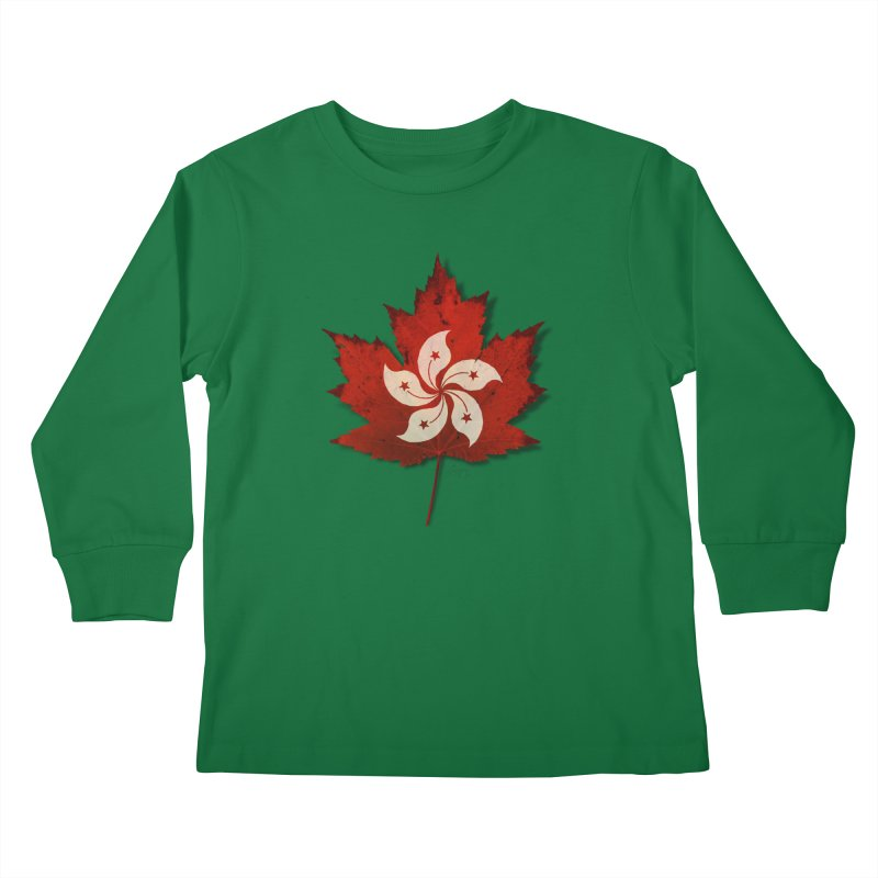 Hong Kong Maple Kids Longsleeve T-Shirt by Hadeda Creative's Artist Shop
