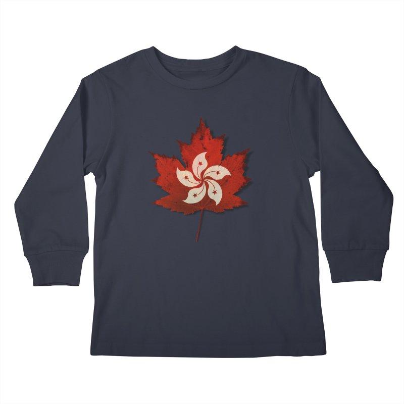 Hong Kong Maple Kids Longsleeve T-Shirt by Hadeda Creative's Artist Shop