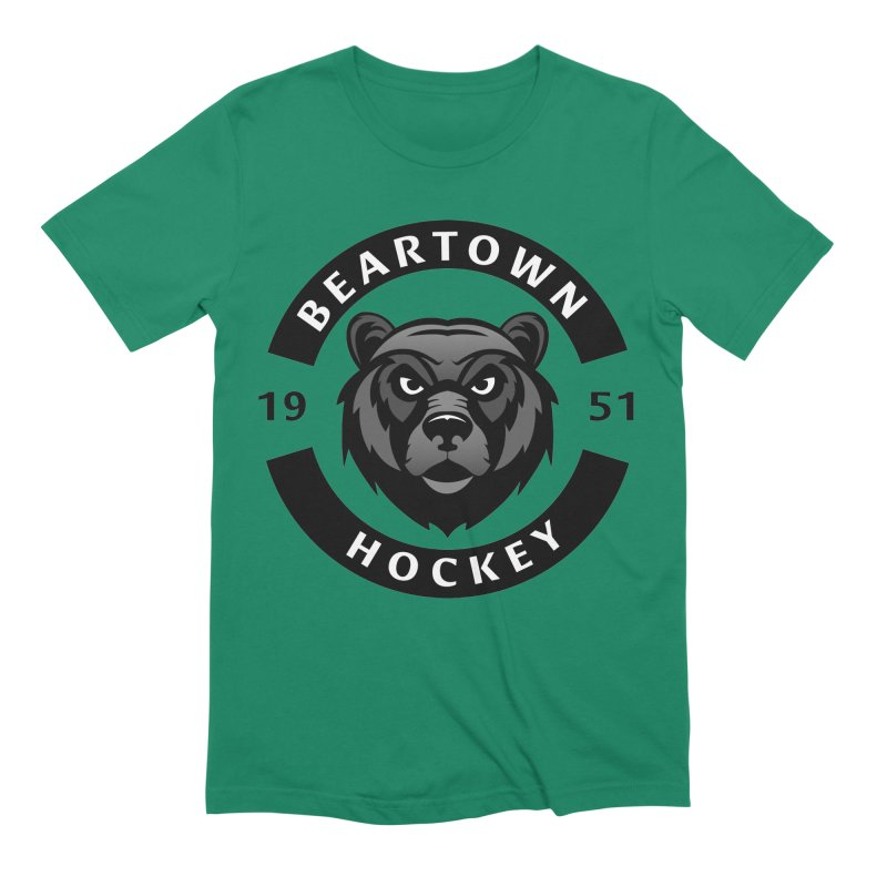 Beartown Hockey Men's Extra Soft T-Shirt by Hadeda Creative's Artist Shop