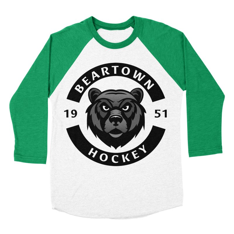 Beartown Hockey Men's Baseball Triblend Longsleeve T-Shirt by Hadeda Creative's Artist Shop