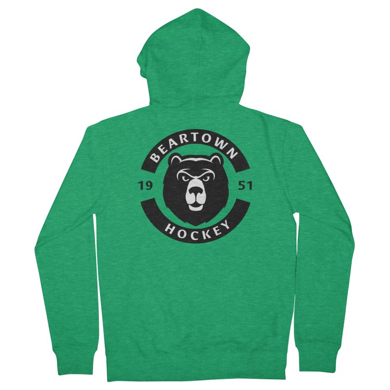 Beartown Hockey Men's French Terry Zip-Up Hoody by Hadeda Creative's Artist Shop