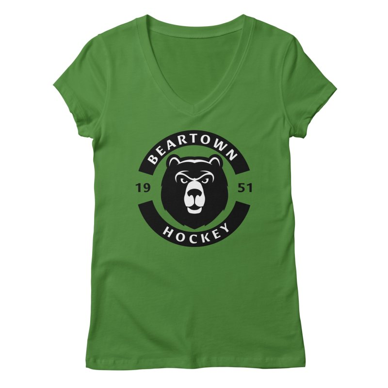 Beartown Hockey Women's V-Neck by Hadeda Creative's Artist Shop