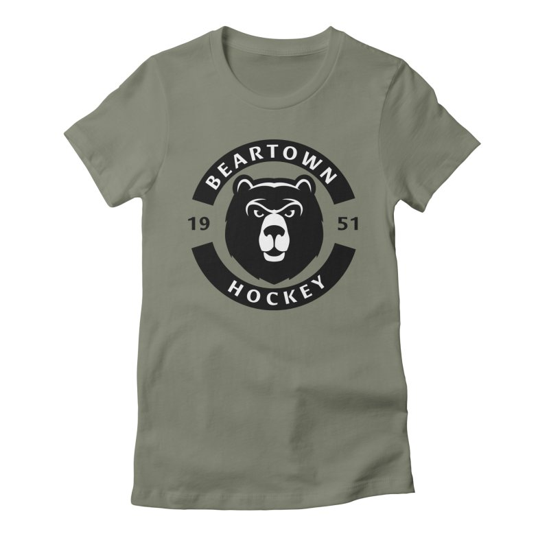 Beartown Hockey Women's Fitted T-Shirt by Hadeda Creative's Artist Shop