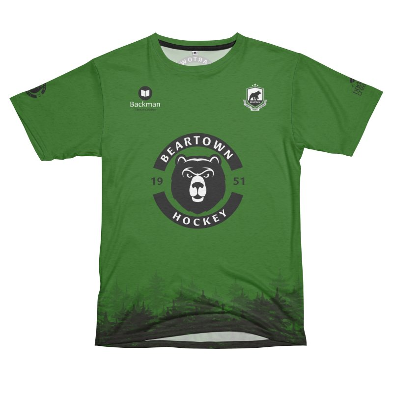Beartown Hockey (One Colour Logo) Men's French Terry T-Shirt Cut & Sew by Hadeda Creative's Artist Shop