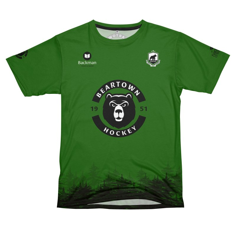 Beartown Hockey (One Colour Logo) Men's T-Shirt Cut & Sew by Hadeda Creative's Artist Shop