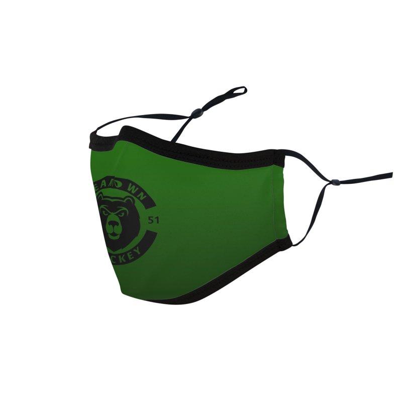 Beartown Hockey (One Colour Logo) Accessories Face Mask by Hadeda Creative's Artist Shop
