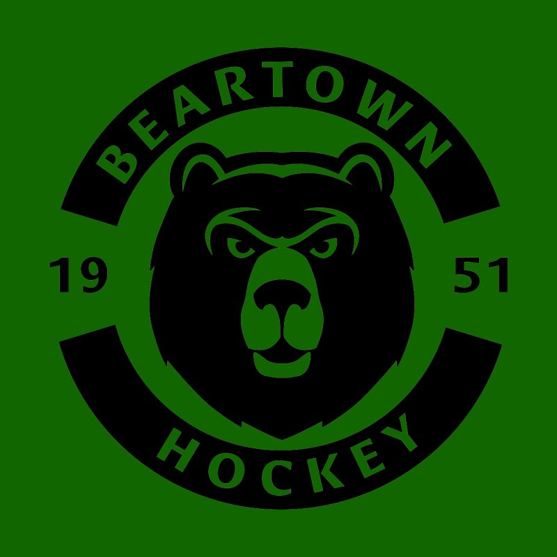 Beartown Hockey (One Colour Logo) by Hadeda Creative's Artist Shop
