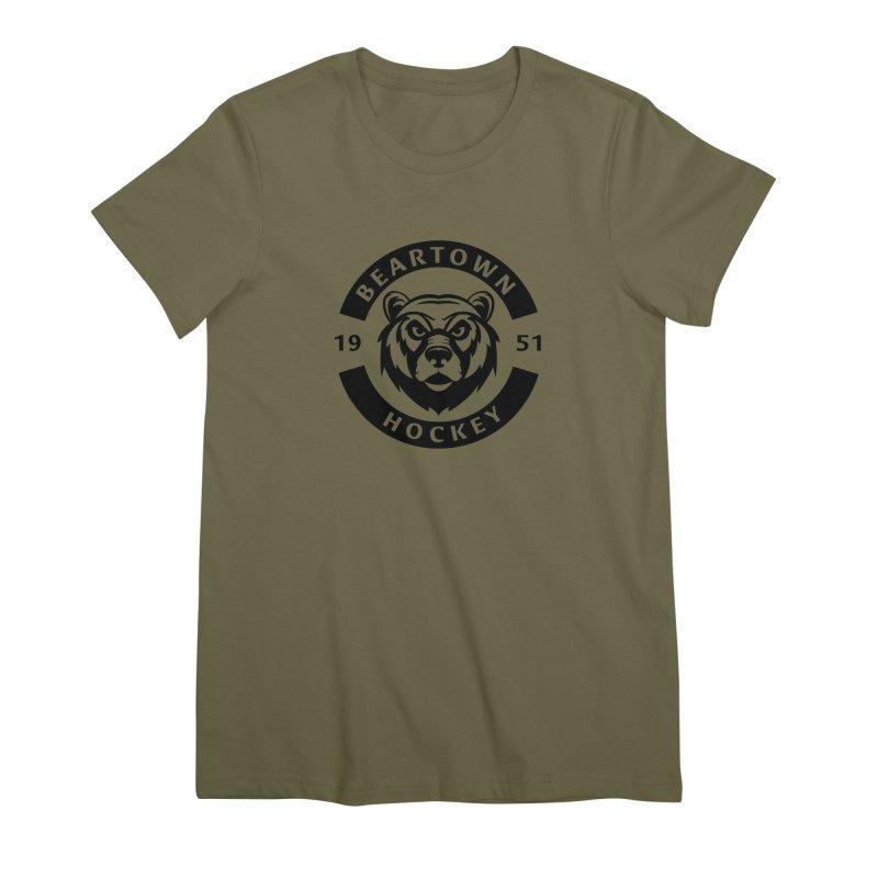 Beartown Hockey (One Colour Logo) Women's Premium T-Shirt by Hadeda Creative's Artist Shop