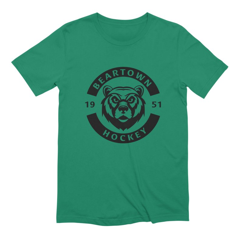 Beartown Hockey (One Colour Logo) Men's Extra Soft T-Shirt by Hadeda Creative's Artist Shop