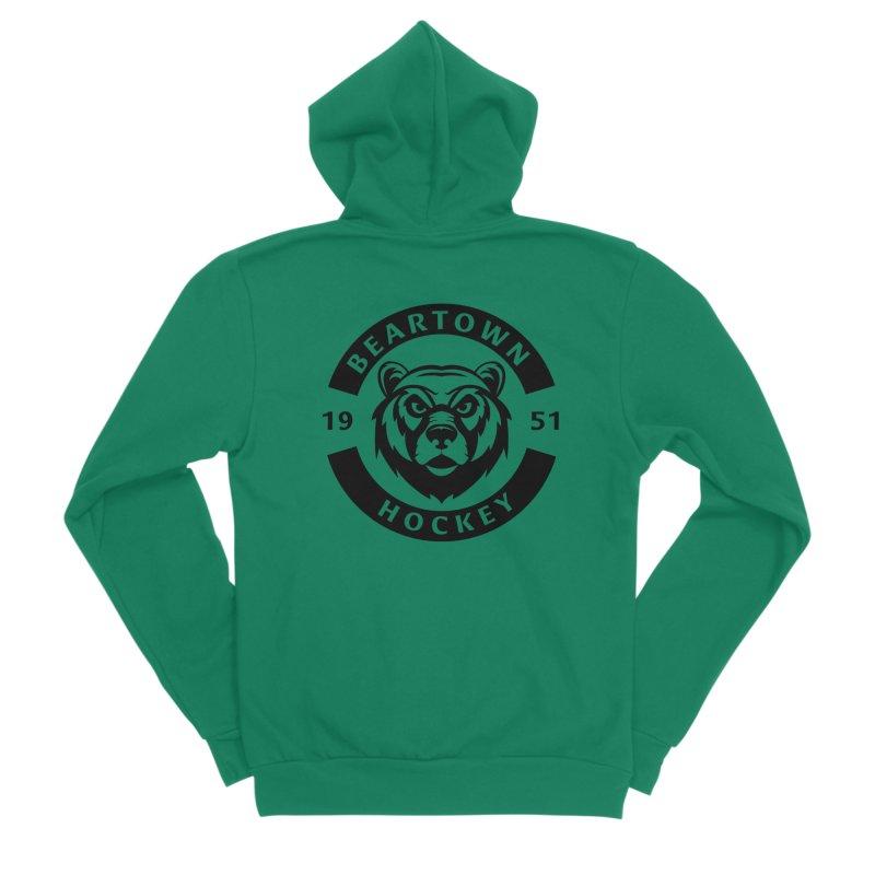 Beartown Hockey (One Colour Logo) Men's Sponge Fleece Zip-Up Hoody by Hadeda Creative's Artist Shop