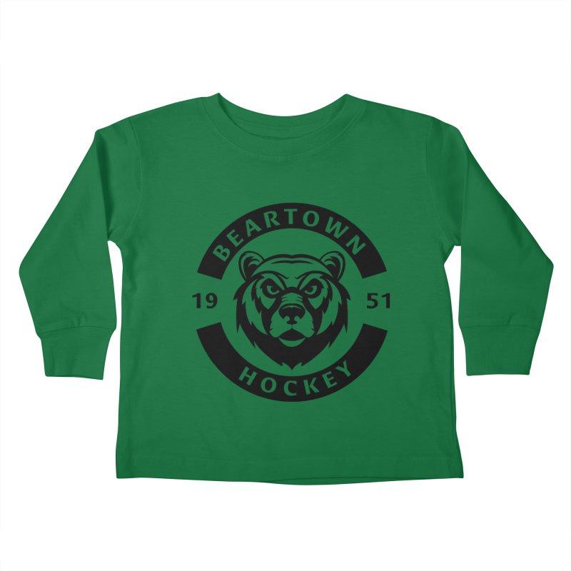 Beartown Hockey (One Colour Logo) Kids Toddler Longsleeve T-Shirt by Hadeda Creative's Artist Shop