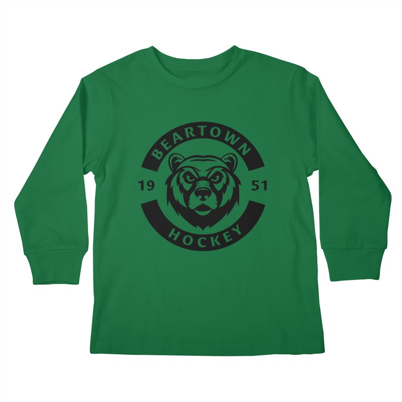 Beartown Hockey (One Colour Logo) Kids Longsleeve T-Shirt by Hadeda Creative's Artist Shop