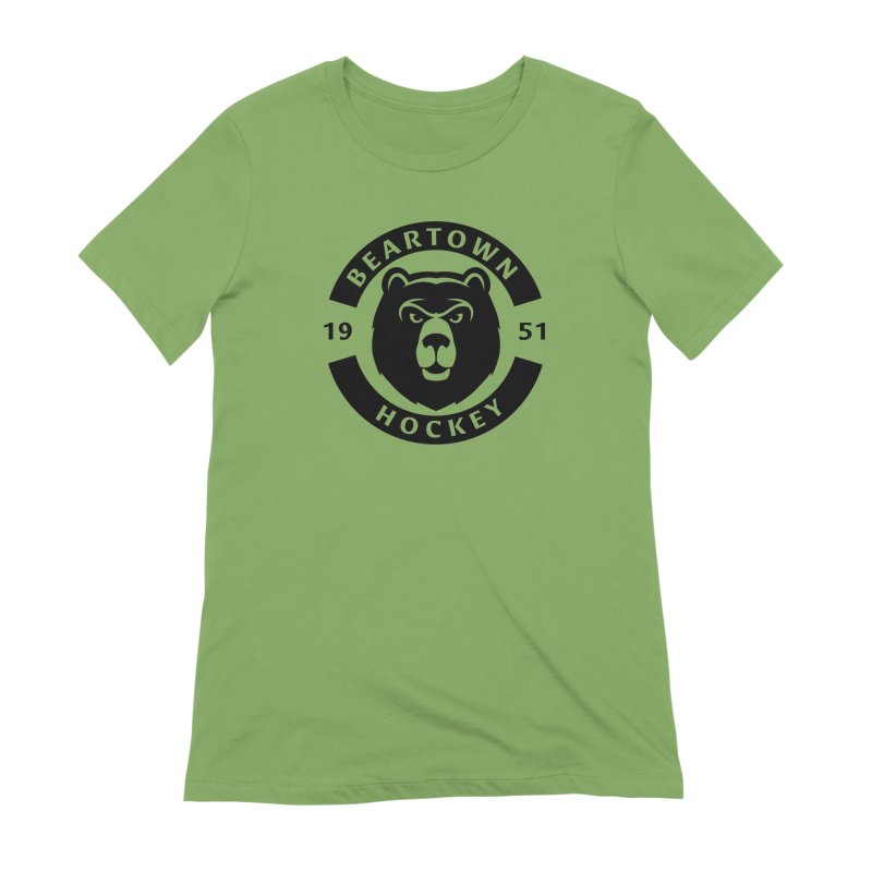 Beartown Hockey (One Colour Logo) Women's Extra Soft T-Shirt by Hadeda Creative's Artist Shop