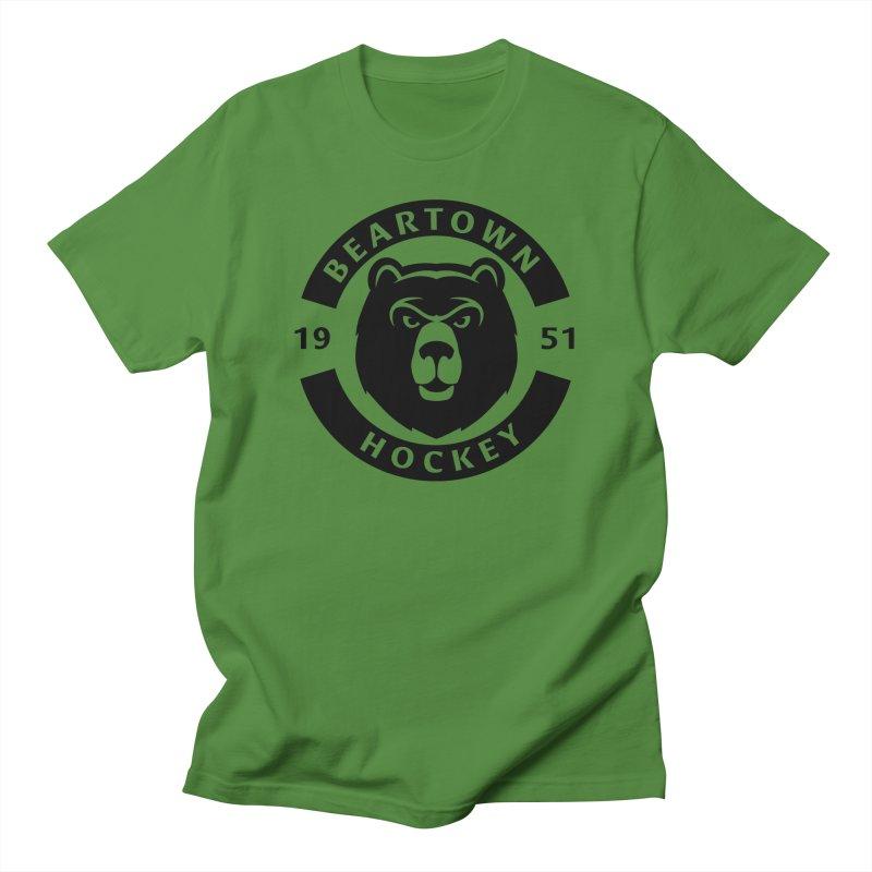 Beartown Hockey (One Colour Logo) Men's T-Shirt by Hadeda Creative's Artist Shop