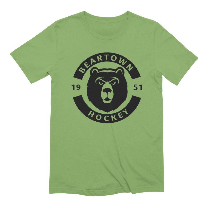 Beartown Hockey (One Colour Logo) Men's Extra Soft T-Shirt by Hadeda Creative's Artist Shop