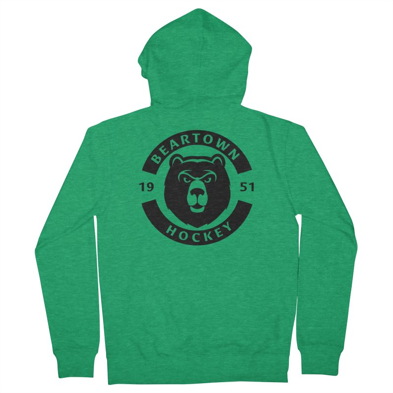 Beartown Hockey (One Colour Logo) Men's French Terry Zip-Up Hoody by Hadeda Creative's Artist Shop