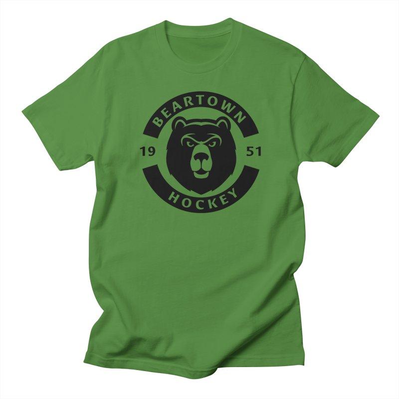 Beartown Hockey (One Colour Logo) Men's Regular T-Shirt by Hadeda Creative's Artist Shop