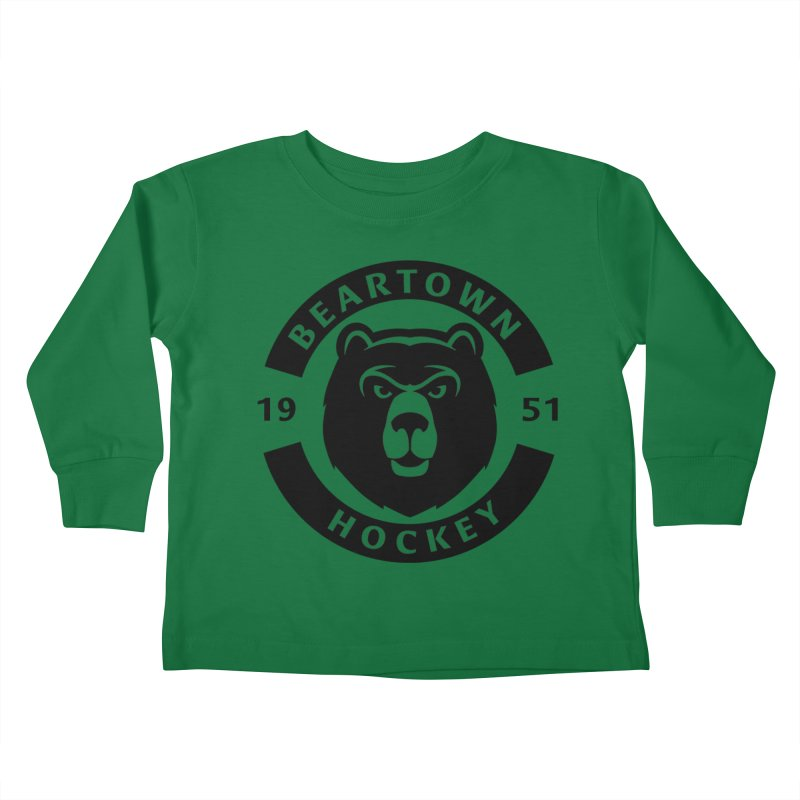 Beartown Hockey (One Colour Logo) Kids Toddler Longsleeve T-Shirt by Hadeda Creative's Artist Shop
