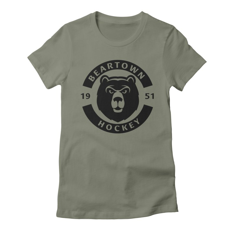 Beartown Hockey (One Colour Logo) Women's Fitted T-Shirt by Hadeda Creative's Artist Shop