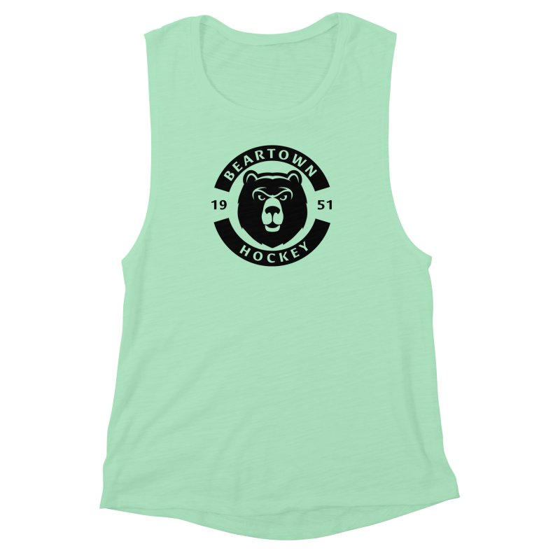 Beartown Hockey (One Colour Logo) Women's Muscle Tank by Hadeda Creative's Artist Shop