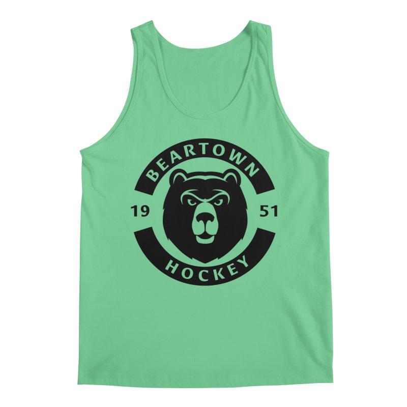 Beartown Hockey (One Colour Logo) Men's Regular Tank by Hadeda Creative's Artist Shop