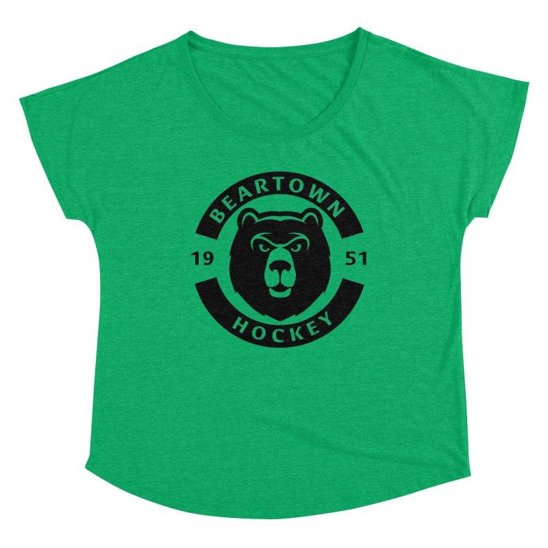 Beartown Hockey (One Colour Logo) Women's Scoop Neck by Hadeda Creative's Artist Shop
