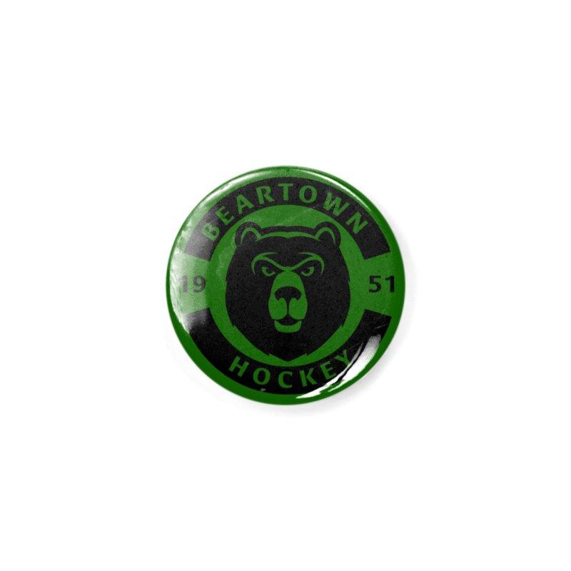Beartown Hockey (One Colour Logo) Accessories Button by Hadeda Creative's Artist Shop