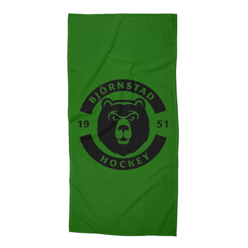 Björnstad Hockey Accessories Beach Towel by Hadeda Creative's Artist Shop