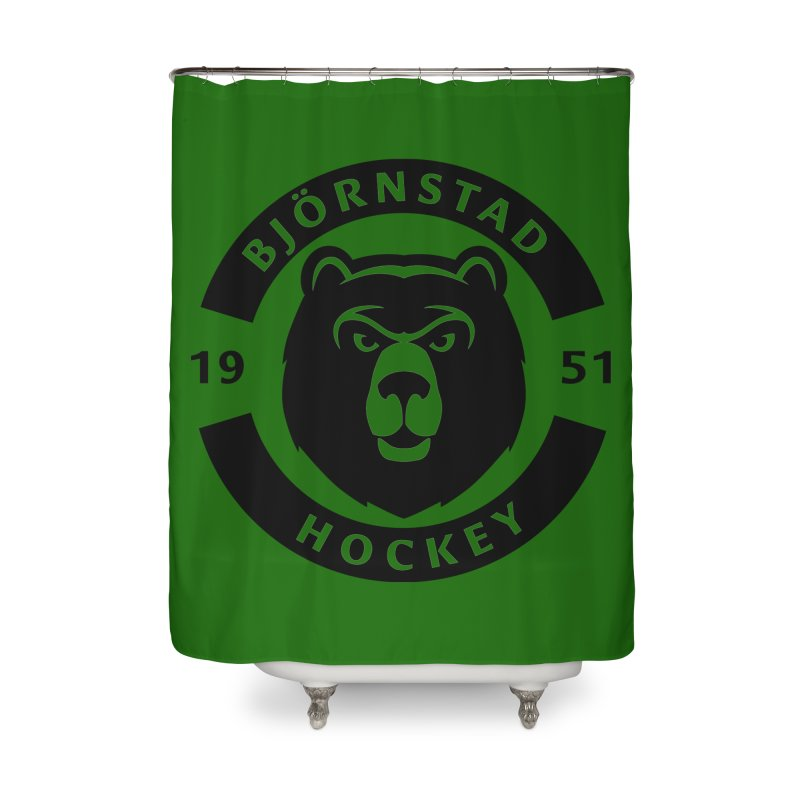 Björnstad Hockey Home Shower Curtain by Hadeda Creative's Artist Shop