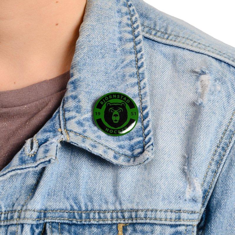 Björnstad Hockey (One Colour Logo) Accessories Button by Hadeda Creative's Artist Shop