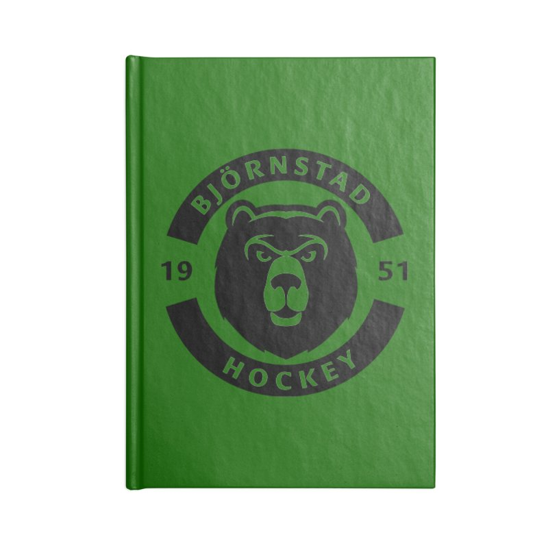 Björnstad Hockey Accessories Blank Journal Notebook by Hadeda Creative's Artist Shop
