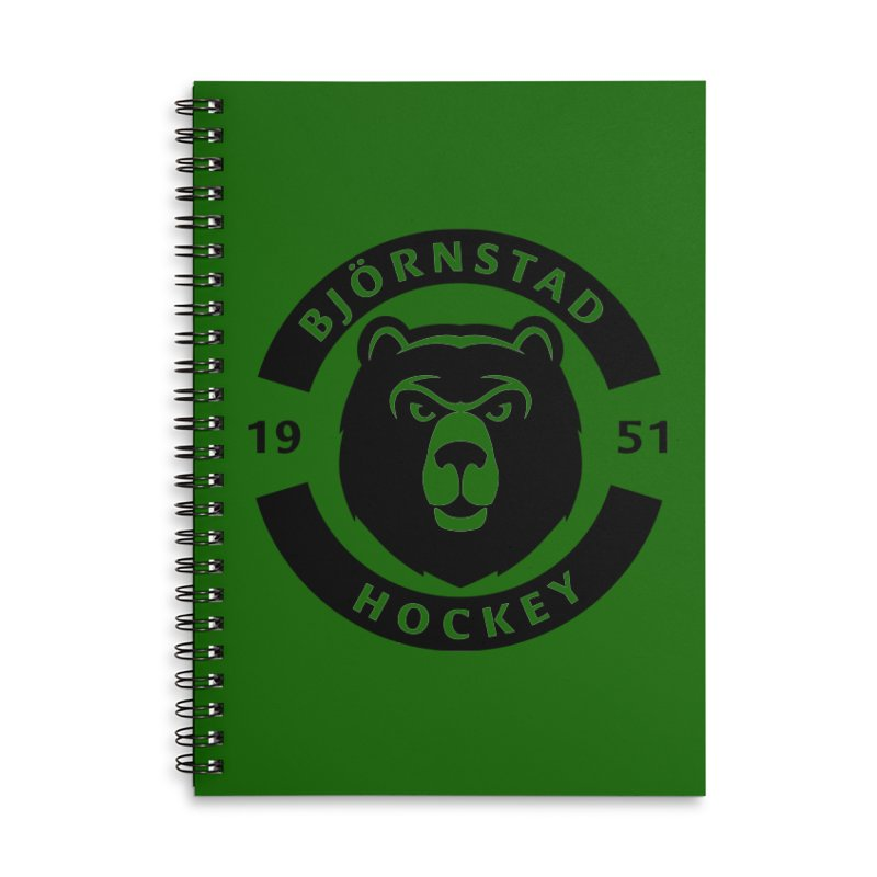 Björnstad Hockey Accessories Lined Spiral Notebook by Hadeda Creative's Artist Shop